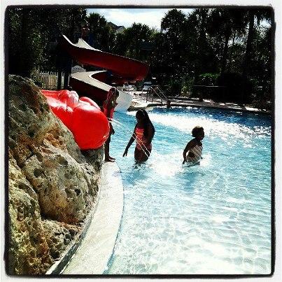 Girs at pool