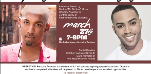 Want to be a personal assistant to the stars? Sign up for Operation Personal Assistant with @MrCouture!