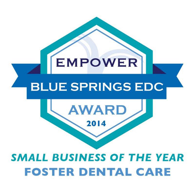 Empower Blue Springs EDC Award 2014 Small Business of the Year Foster Dental Care