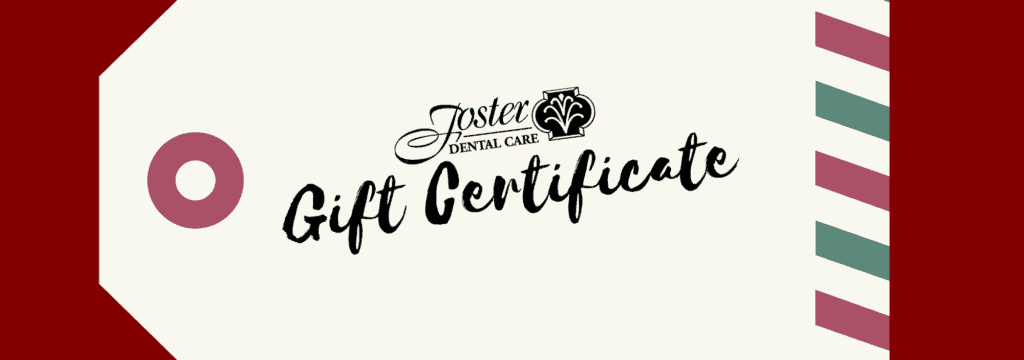 This holiday season, you can give the gift of oral health, by purchasing a gift certificate from Foster Dental Care in Blue Springs #ShopLocal