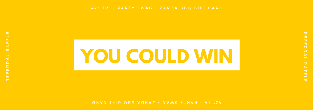 "Win a 42"" TV, Party Swag, & a Zarda BBQ Gift Card when you refer to Foster Dental Care in Blue Springs, MO. Drawing on October 1"