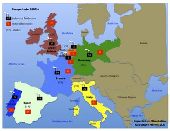 Europe Map Imperialism Map Activity