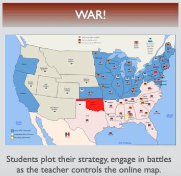 Civil War Map Activity War Map