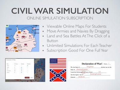 Civil War Online Simulation
