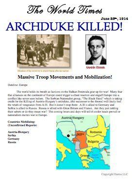 World Times: Archduke Killed!