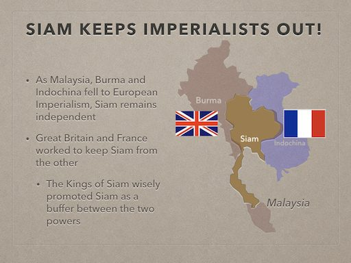 Siam Keeps Imperialists Out