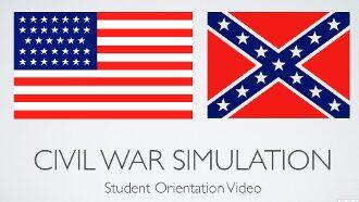 Civil War Simulation Student Orientation Presentation