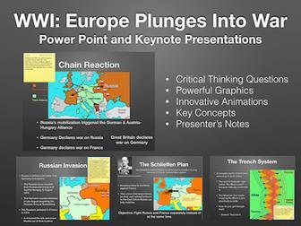Europe Plunges Into War Presentation