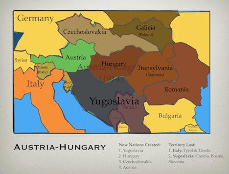 Austria-Hungary Lost Land