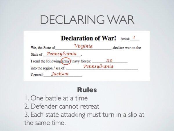 Civil War Declaration of war