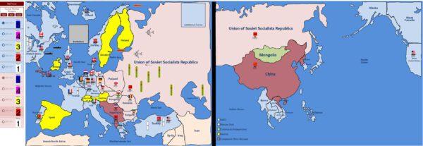 Cold War Simulation Map