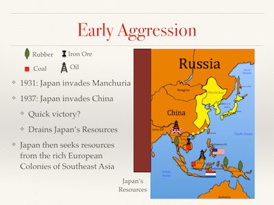 Early Japanese Aggression