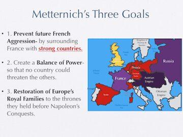 Metternich's 3 Goals