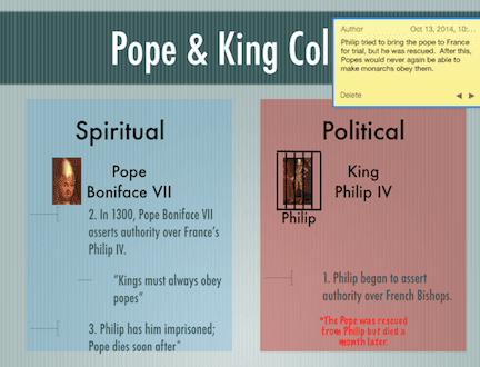 Pope and King Collide