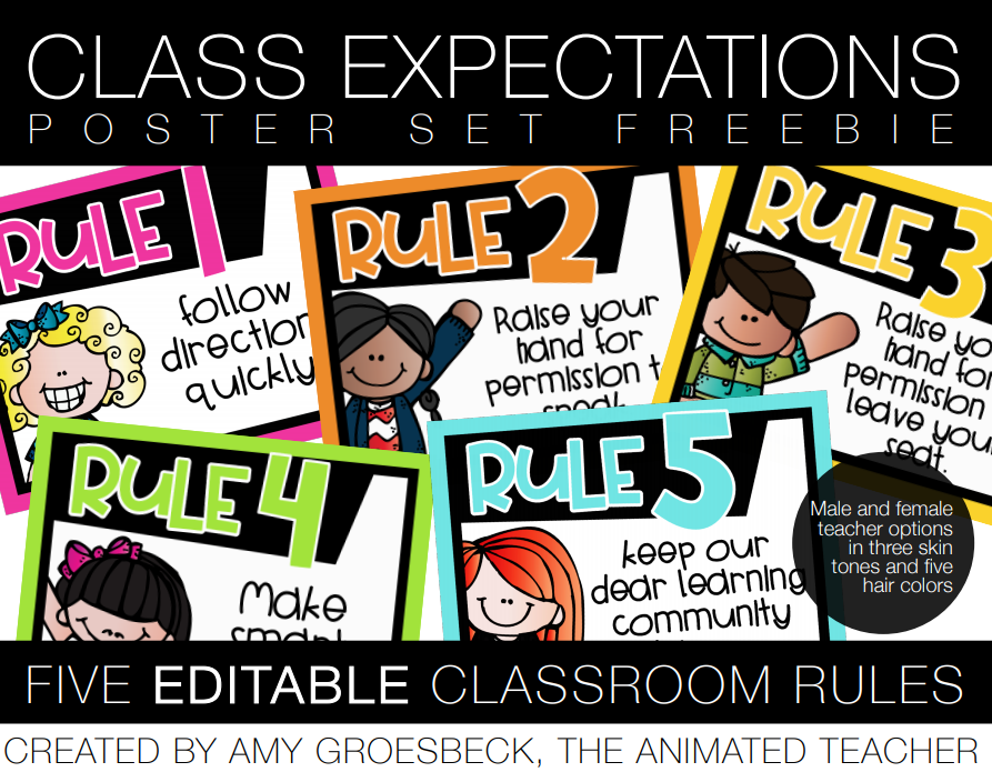 FREE whole brain teaching classroom rules - class expectations posters