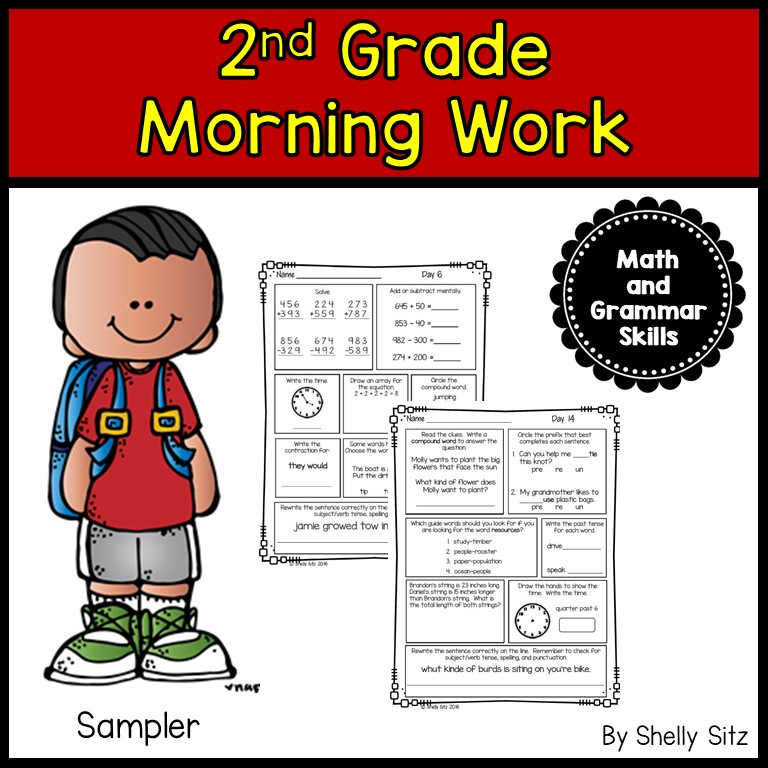 2nd grade spiral review for morning work