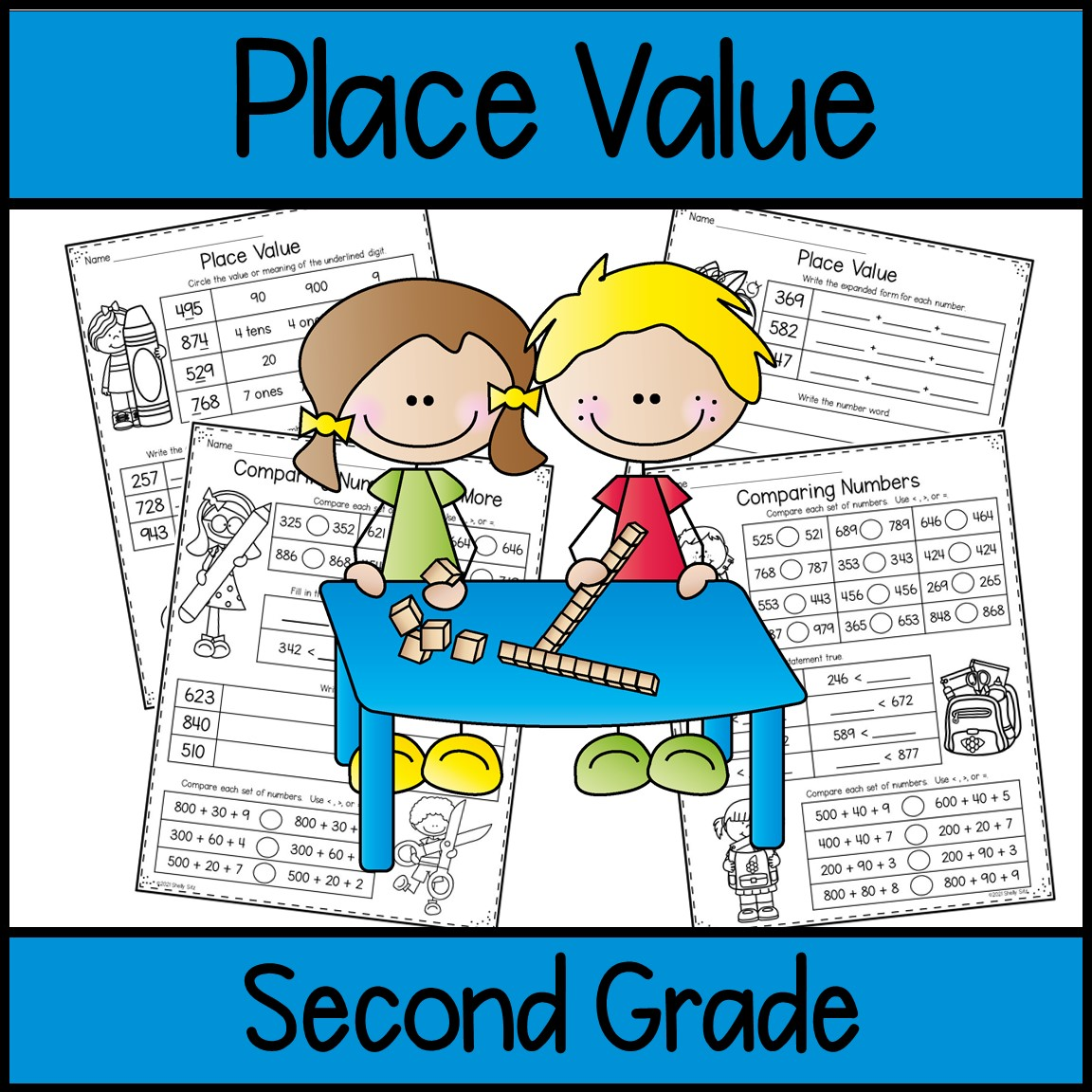 place value math worksheets