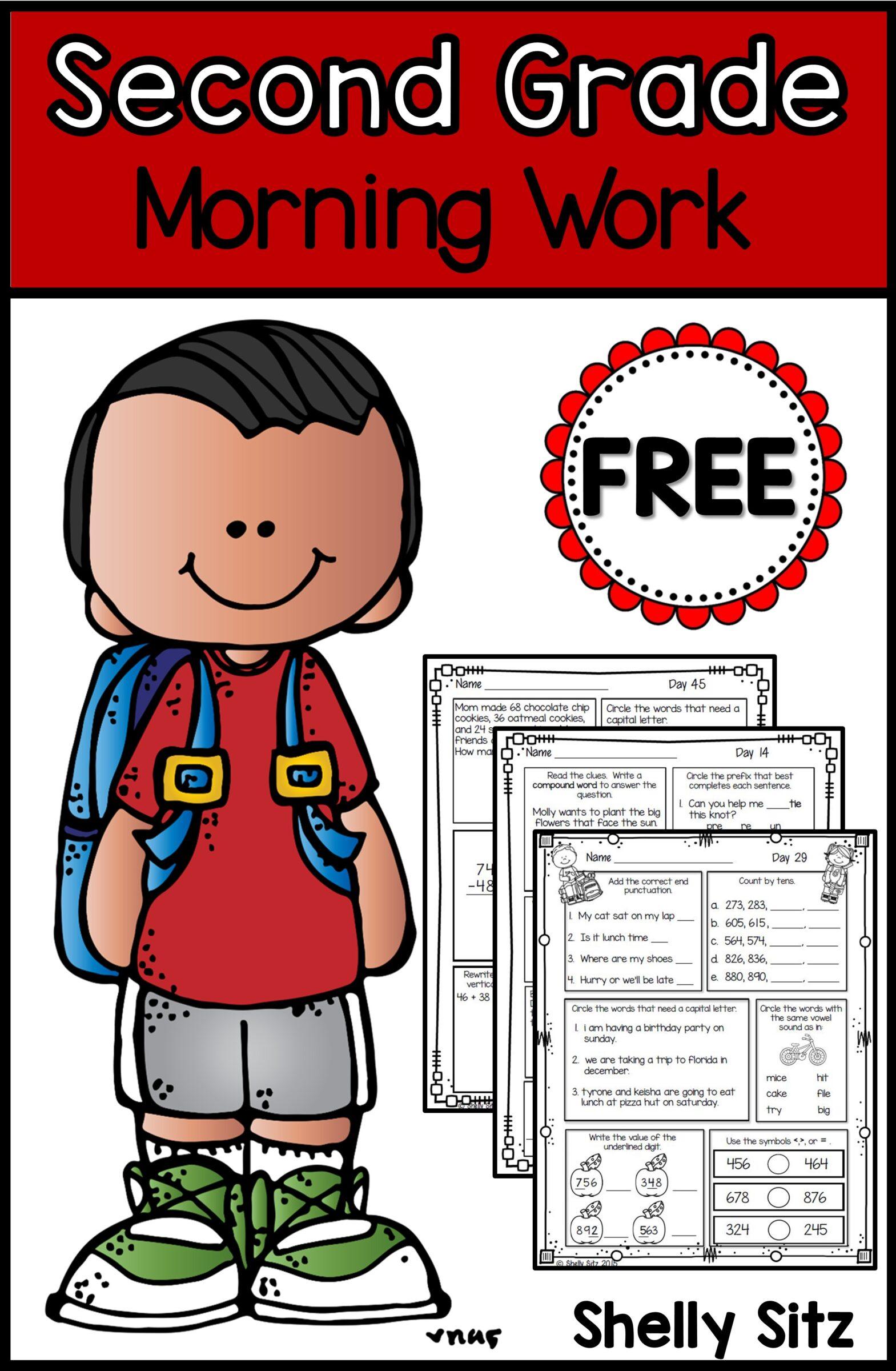 Free second grade morning work
