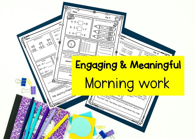 engaging morning work for second grade