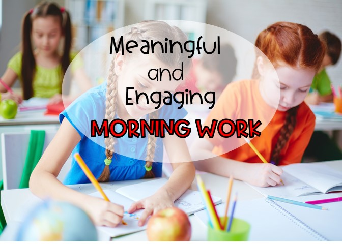 morning work for first grade and second grade