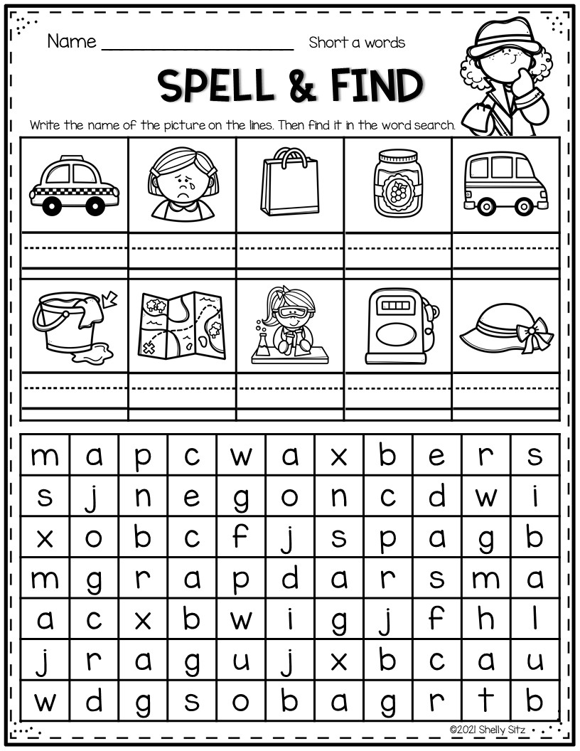 Spell the word and find it in the word search