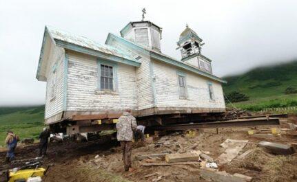 The church move underway