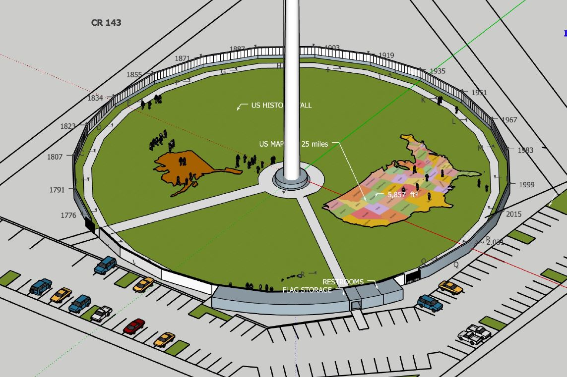 USA Map at Inspiration Park