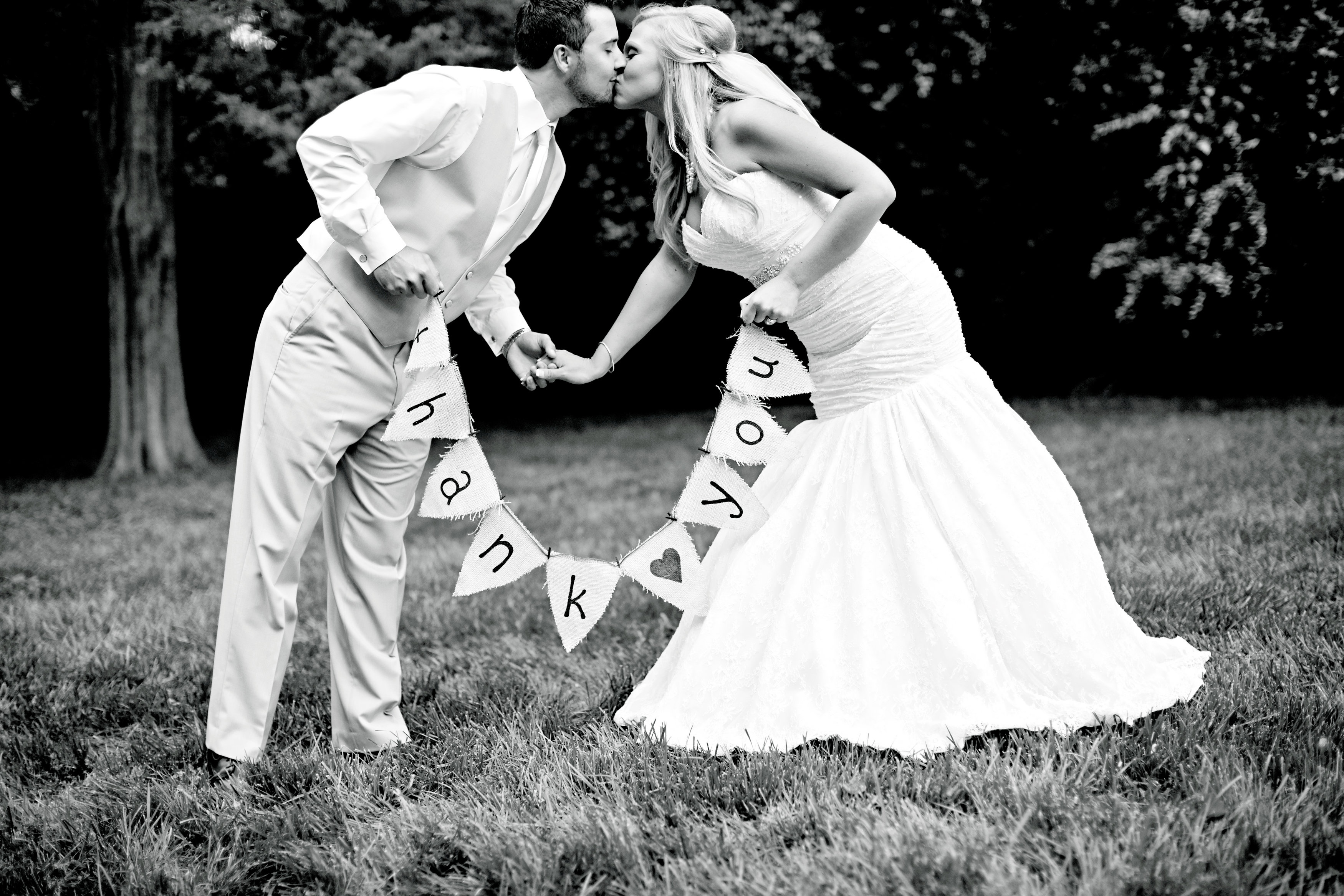 """""""Thank you"""" brides have come up with some of the cutest signage to incorpoate into their day!"""