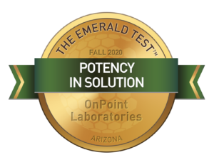 Potency in Solution Emerald Test Medallion