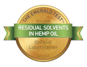 Residual Solvents in Hemp Oil Emerald Test Medallion