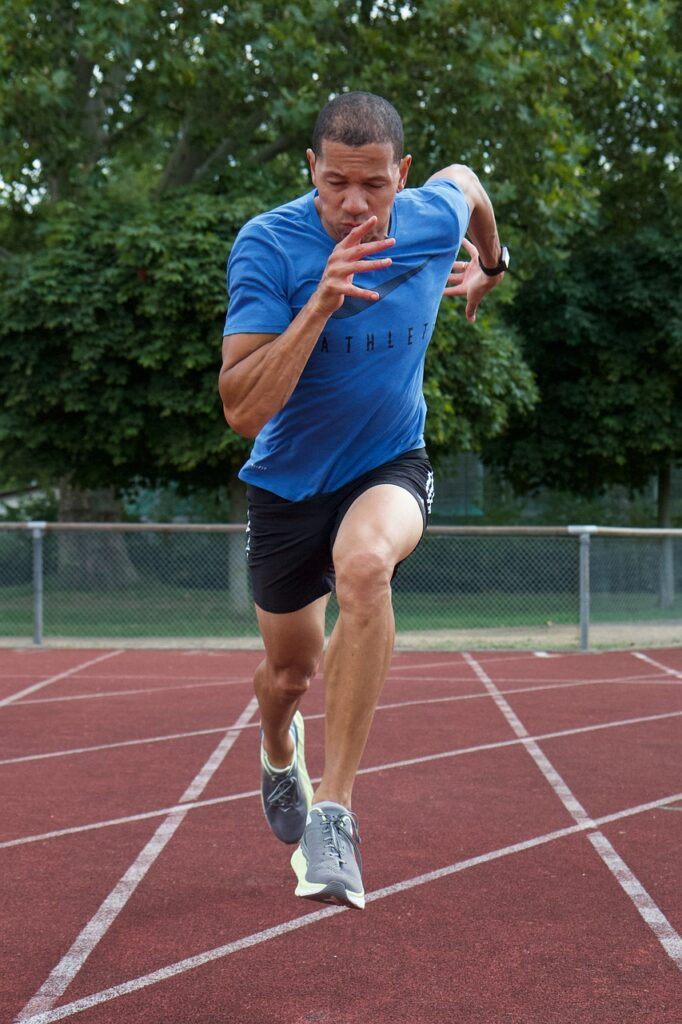 Health Check - Man sprinting on a track