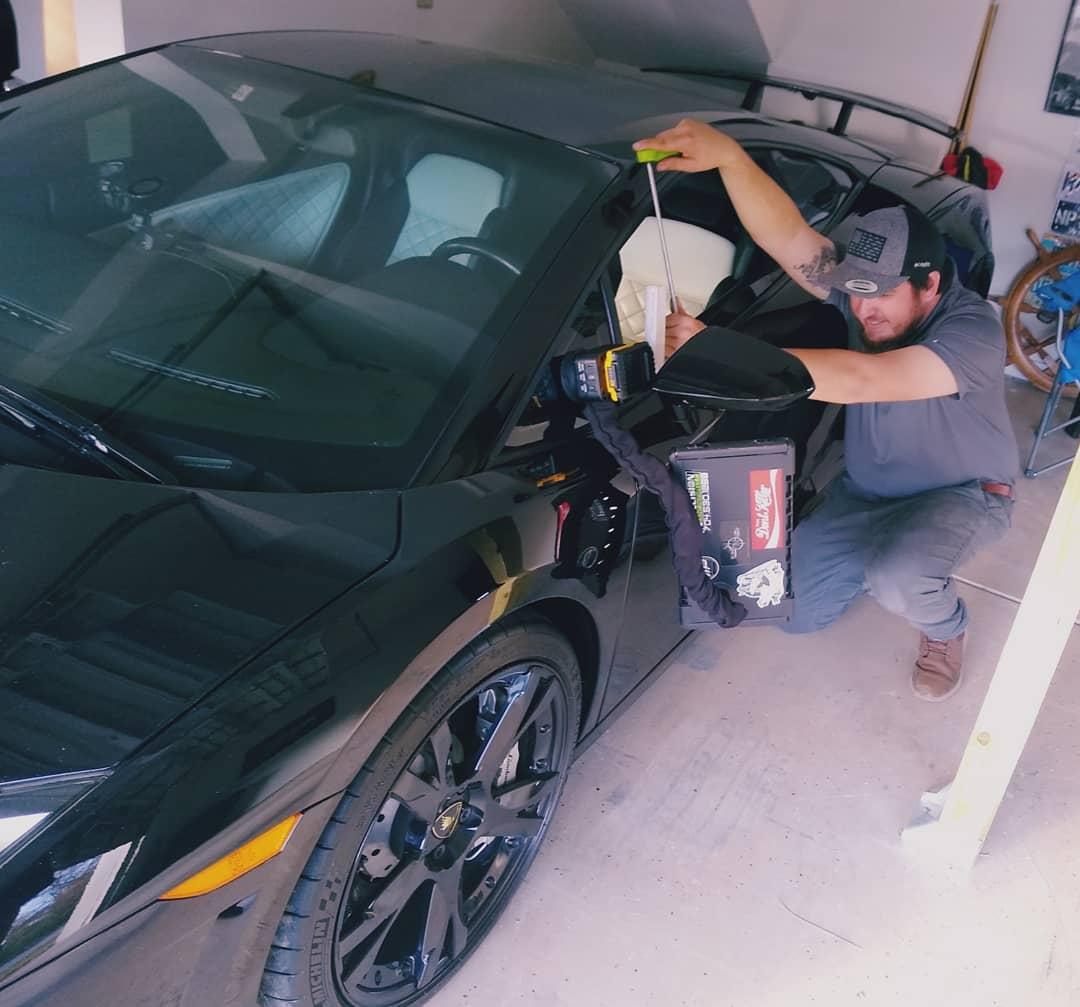 matt fixing exotic car