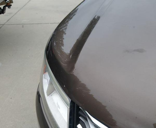 Dent repair of hood