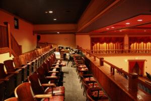 interior of main auditorium