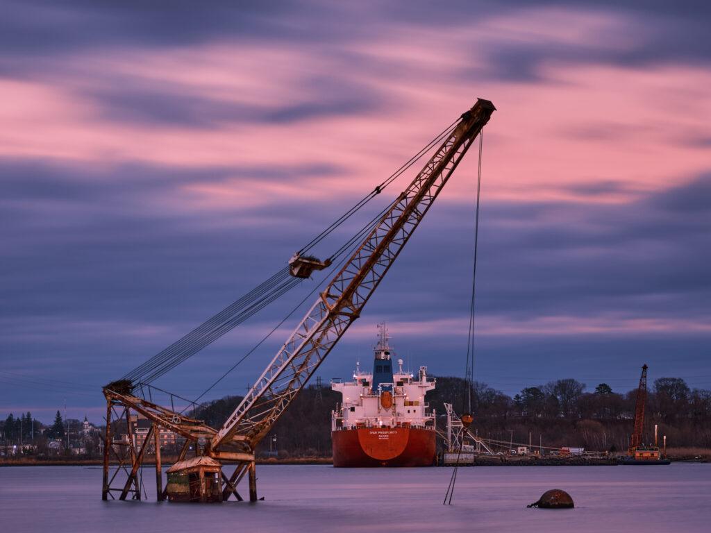 Fujifilm GFX50S Providence Rhode Island Sea Crane