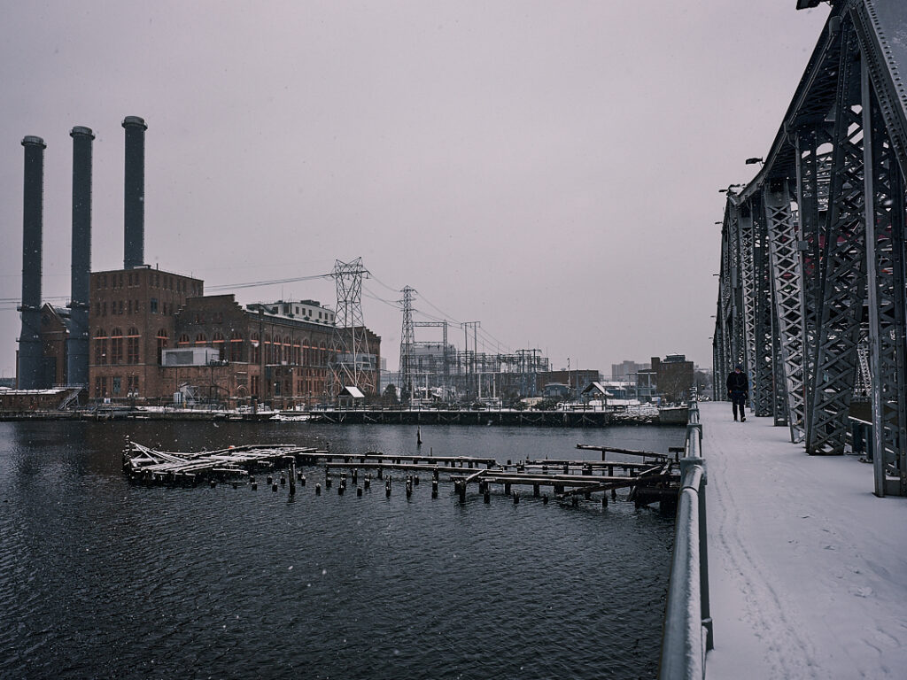 Michael St. Jean Photography - Providence Rhode Island River in the Winter
