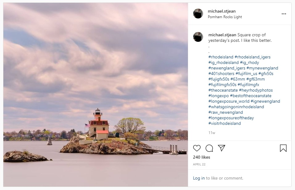 Pomham Light, Rhode Island, Long Exposure, Thank you Peerspace