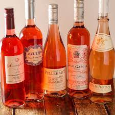 group of rose wines