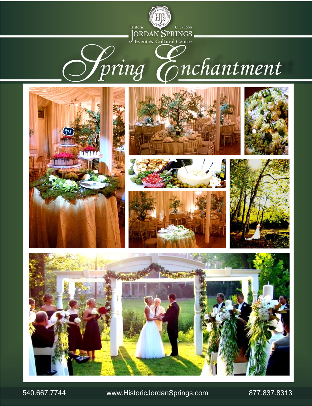 Spring Enchantment Wedding Package, Historic Jordan Springs, Winchester, VA