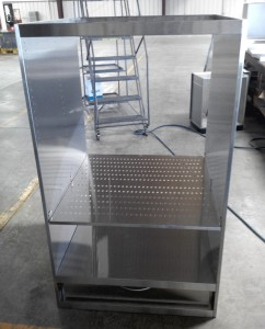 Perforated Insert Shelf with Drawer