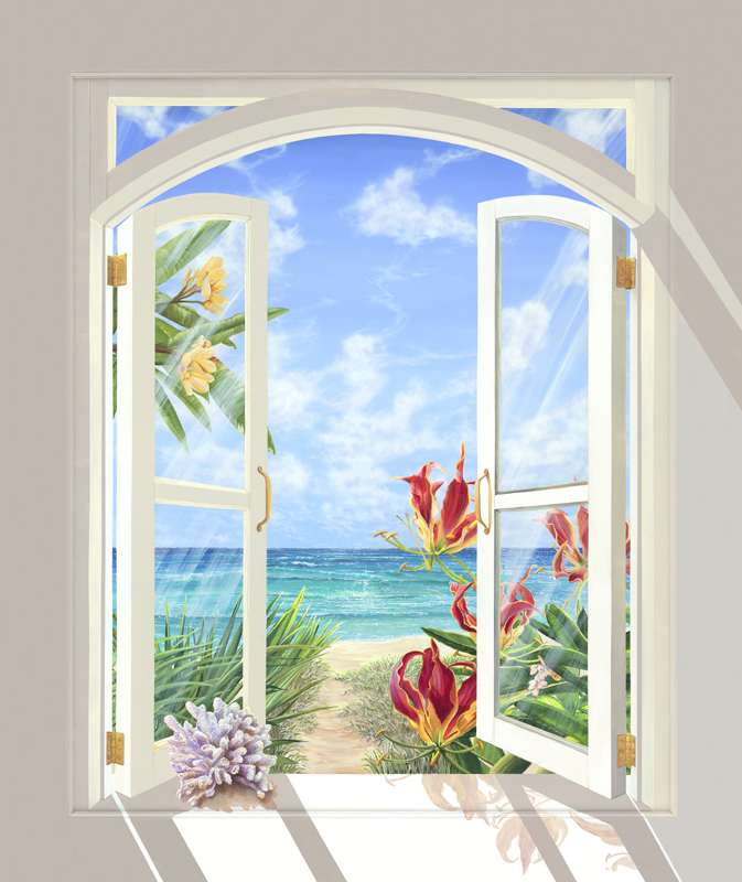 "<b>""Coral Beach""</b><br> Giclée 27x32"", 34x40"", 40x47"""
