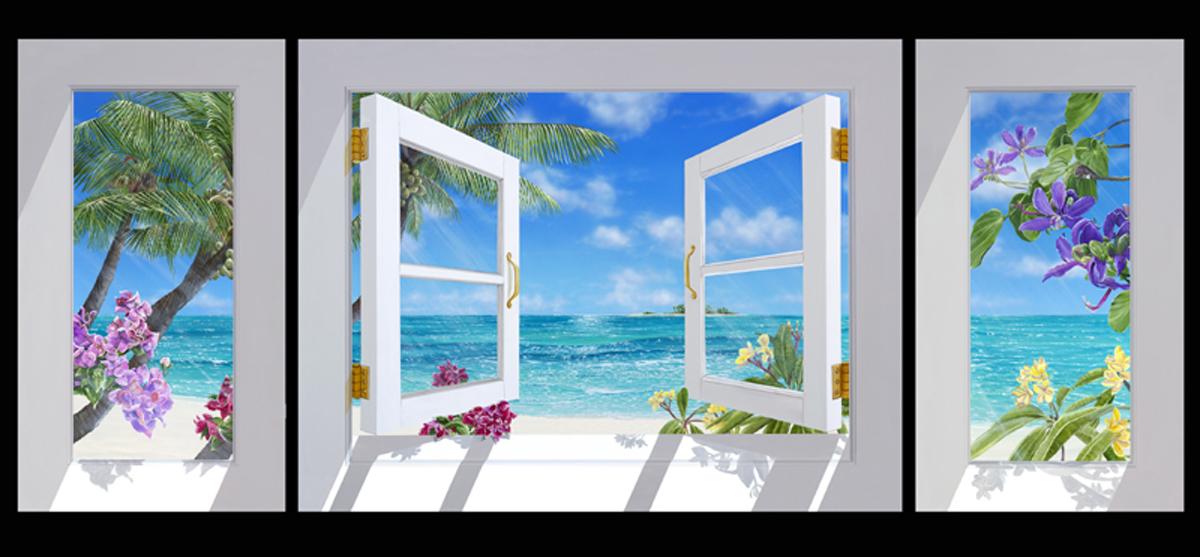 """<b>""""Sandy Cay""""</b><br> Giclée (triptych) 25x60"""""""