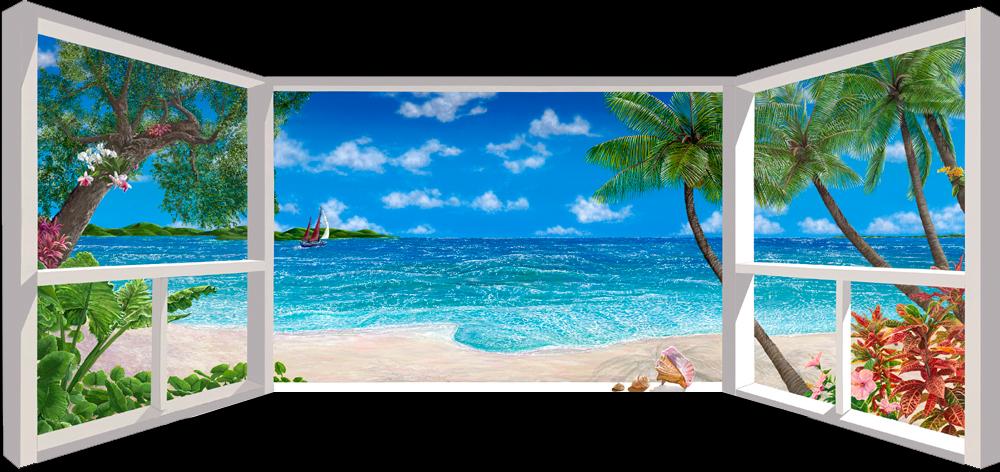 """<b>""""Sea of Dreams""""</b><br> (triptych) giclee on canvas, 80""""x37"""""""