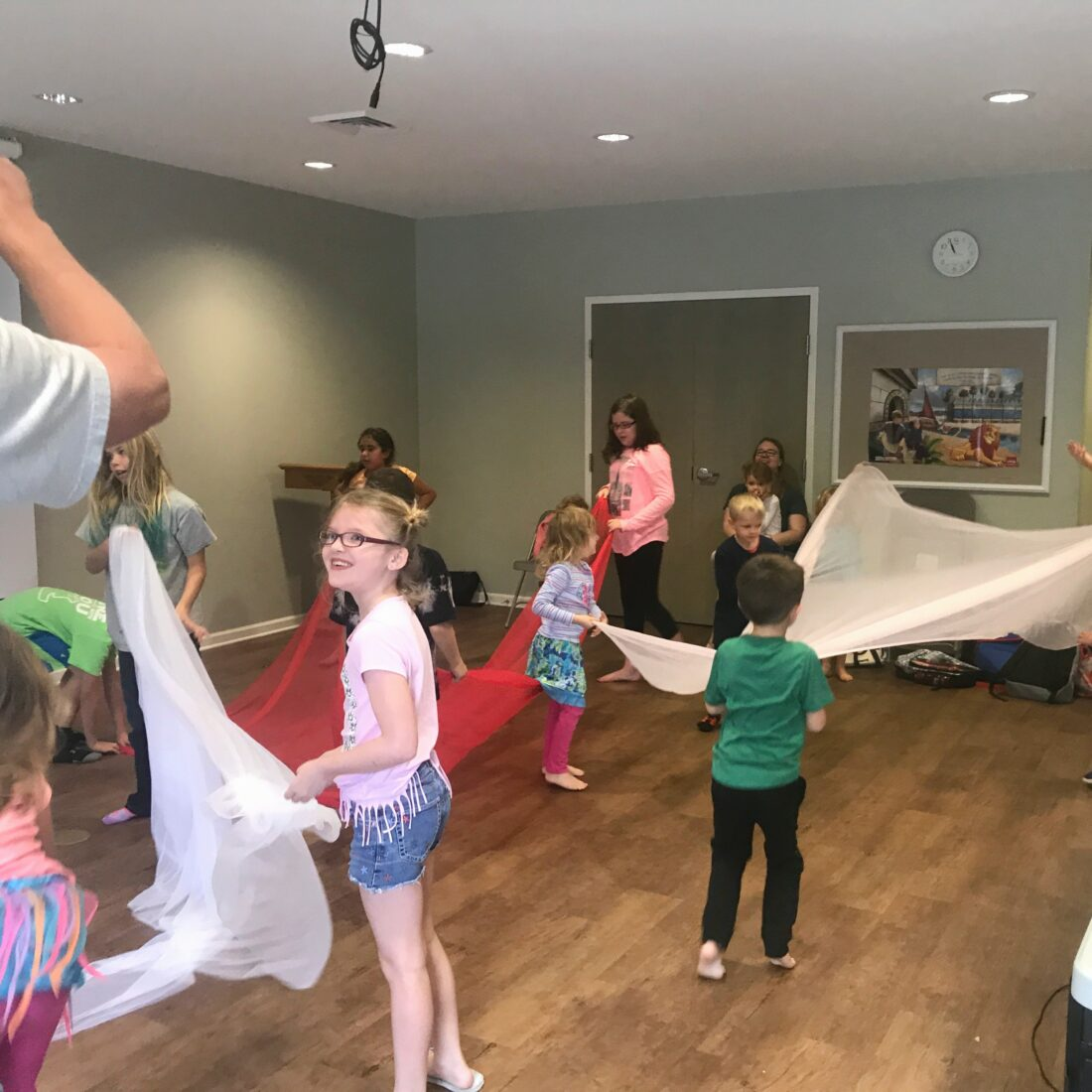 Children loved the dance weekly wow workshop at Learn Together Lowcountry homeschool co-op in Bluffton SC