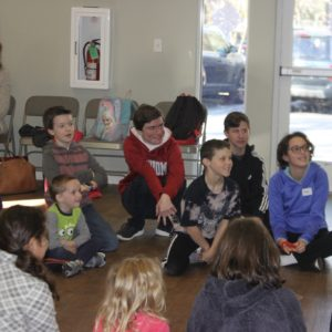 Students enjoy an acting weeky wow workshop at Learn Together Lowcountry homeschool co-op in Bluffton SC