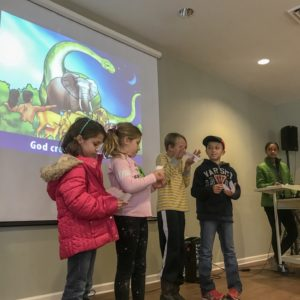 Bible students recite verses at Learn Together Lowcountry homeschool co-op in Bluffton SC