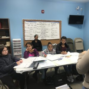 Middle school students concentrate on American Sign Language at Learn Together Lowcountry homeschool co-op in Bluffton SC