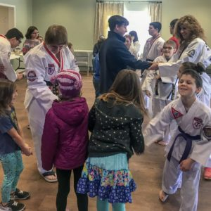 The students enjoy an exciting karate weekly wow workshop at Learn Together Lowcountry homeschool co-op in Bluffton SC