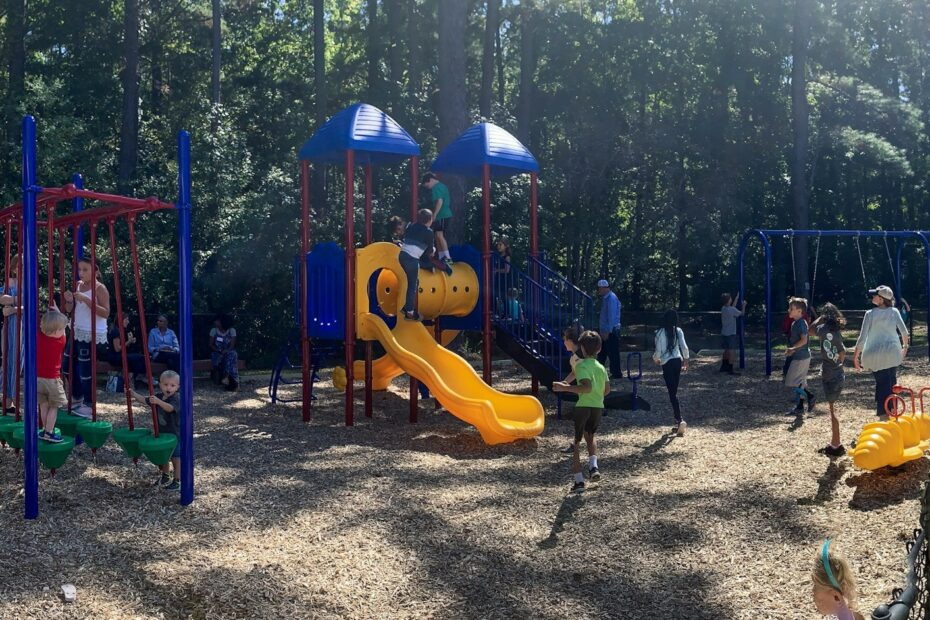 Learn Together Lowcountry enjoys a brand new playground provided by Grace Coastal Church.