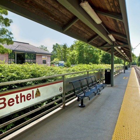 MetroNorth Train Station in Bethel CT